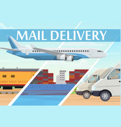 mail delivery service shipping logistics vector image