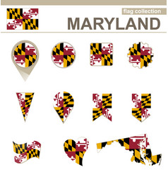 Maryland flag collection vector