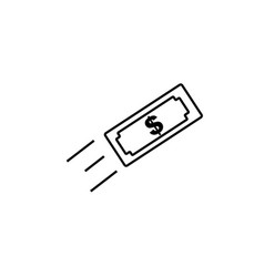 money transfer icon vector image