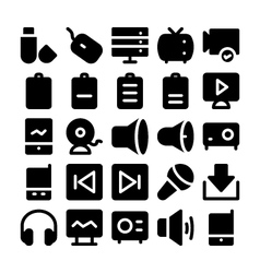 Multimedia Icons 7 vector image
