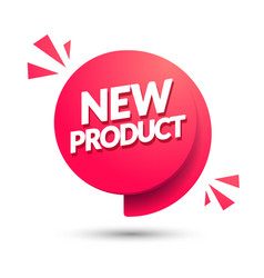 New product speech bubble with 3d effect vector