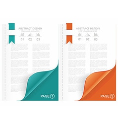 Open the blank magazine with color corner vector image