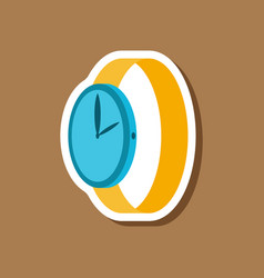 paper sticker fashion clothes wrist watch vector image