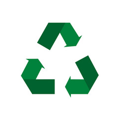 Recycle icon environmental management in vector