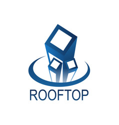rotop logo concept design template in blue vector image