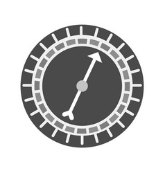roulette with arrow vector image