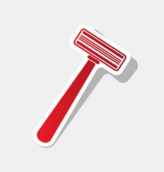 safety razor sign new year reddish icon vector image