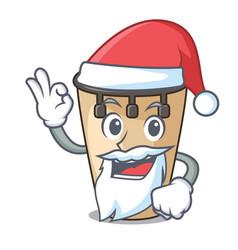 Santa conga mascot cartoon style vector