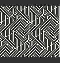seamless lines pattern modern stylish triangle vector image