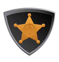 Shield-sherifs-badge vector