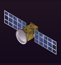 space satellite icon isometric style vector image
