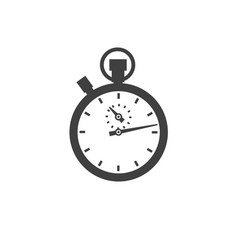 stopwatch icon classic isolated on white vector image