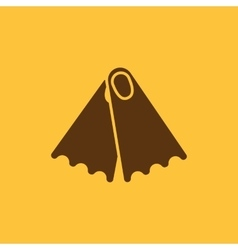 The flippers icon Diving symbol Flat vector image