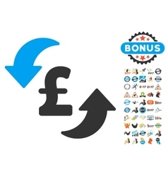 Update Pound Cost Icon With 2017 Year Bonus vector image