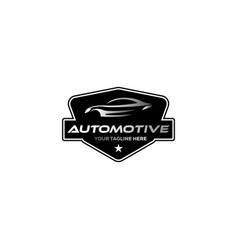 Vintage classic automotive logo designs vector