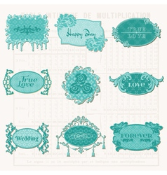 Vintage Design Elements for Scrapbook vector image