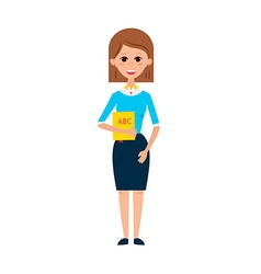 Woman Teacher with Book vector image