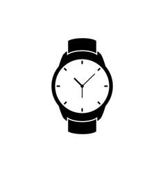 wrist watch icon wristwatch hand clock vector image