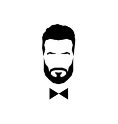 gentleman avatar with bow tie vector image vector image