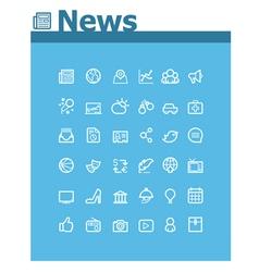 News icon set vector image vector image