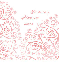 Pink greeting card template vector