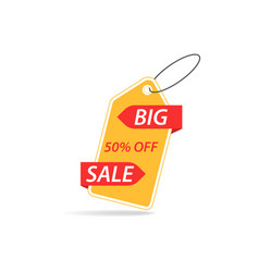 price tag with a discount on a white background vector image