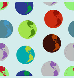 seamless background with the image of the planet e vector image vector image
