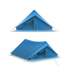 set of ttourist tents vector image vector image