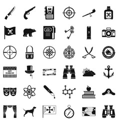 travel in nature icons set simple style vector image vector image