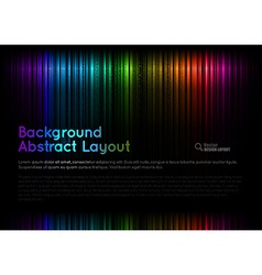 abstract rainbow layout vector image
