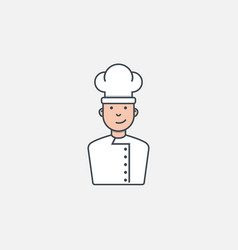 chef with heat vector image