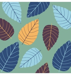 Colored seamless pattern on leaves theme Autumn vector image vector image