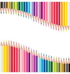 colorful pencils vector image vector image