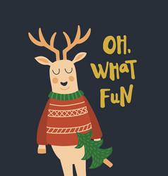deer cheers vector image vector image