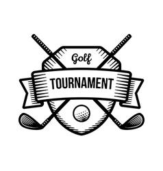 Golf sport tournament logo vector
