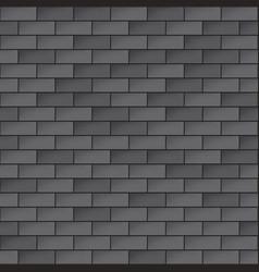simple dark brick wall seamless pattern vector image