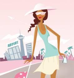 vacation girl vector image