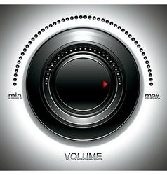 Black volume knob vector image