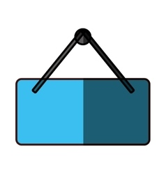 hanging sign icon image vector image