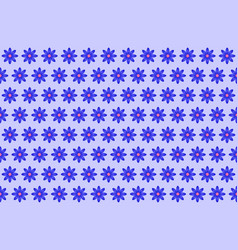 pattern from abstract blue flower vector image vector image