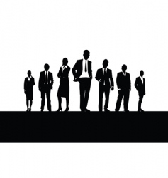 people in a line vector image