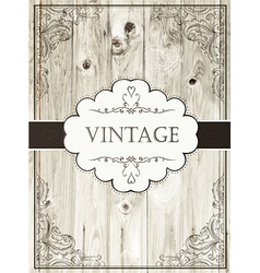 vintage card template vector image vector image