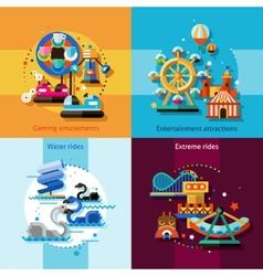 Amusement Design Concept Set vector image vector image