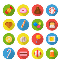candy icon set vector image vector image