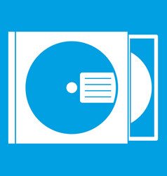 cd box with disc icon white vector image