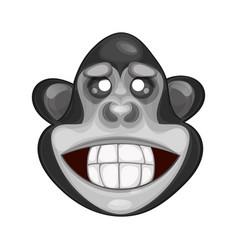 cute monkey icon vector image