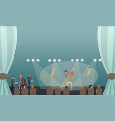 dancing ballet performance in vector image vector image