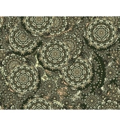 flower paisley seamless gray pattern vector image vector image
