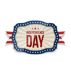 Independence day realistic festive tag vector