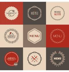 Labels set for restaurant menu design vector image vector image